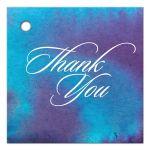 Wedding Thank You Favor Tag - Blue Purple Watercolor Wash