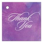 Wedding Thank You Favor Tag - Purple Watercolor Wash
