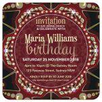 Earth Mandala Birthday Party Invitation