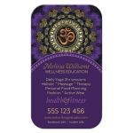 Purple Orange Om Yoga Business Card template