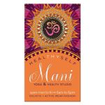 Orange Pink Mandala Yoga Business Card