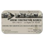 mocha grunge marble unisex business card