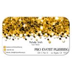 gold glittery confetti professional business cards