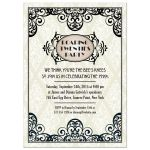 Art Deco Damask Roaring Twenties Party Invitation