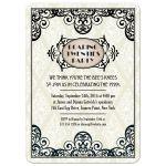 Art Deco Damask Roaring Twenties Party Invitation