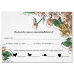 Vintage Blush Floral Wedding Response Card