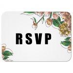 Vintage Blush Floral Wedding RSVP Card