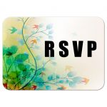 Colorful Larks and Leaves Contemporary Invitation Response Card