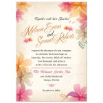 Soft Orchids Floral Tropical Wedding invitation