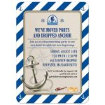 Nautical Stripes Moving Housewarming Party invitation