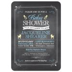 Whimsical Chalkboard Blue Baby Shower invitation