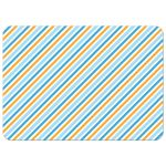 Blue and yellow striped pattern on funny bird notecard