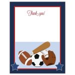Sports theme Thank you note
