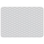 Gray abstract wave pattern, back of flat note card