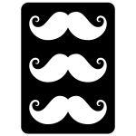 Three handlebar moustaches geeky notecard