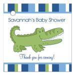 Alligator Striped Gift Tag