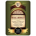 Liquor Bottle Label Bachelor Party invitation
