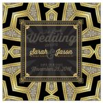Art Deco Black Gold Glam Invitation