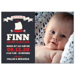 Sweet Sailor Photo Birth Announcements front
