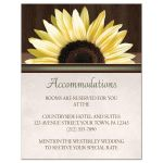 Accommodations Cards - Country Sunflower Over Wood Rustic