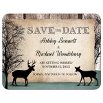 Save the Date Cards - Deer Rustic Woodsy