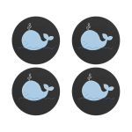 Little Blue Whale Chalkboard Envelope Seals