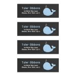 Little Blue Whale Chalkboard Address Labels