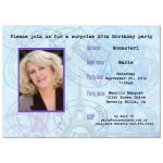 Contemporary Passport Birthday Party Invitation