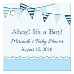 Ahoy, It's a Boy! personalized nautical favor gift tags