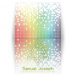 Video game inspired raining digital computer pixels Bar Mitzvah thank you card