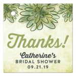 Watercolor Succulents Thank You Favor Tags