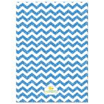 Trendy Blue Glitter Chevron Baby Shower Invitation
