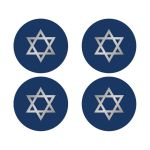 Affordable blue Bar Mitzvah stickers with Star of David