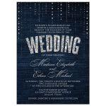 Denim & Diamonds Wedding Invitations front