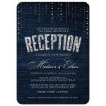 Denim & Diamonds Post Wedding Reception Invitations front