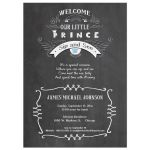 Chalkboard With Modern Typography Baby Boy Sip And See Invitation