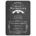 Chalkboard With Modern Typography Baby Girl Sip And See Invitation