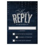 Denim & Diamonds Wedding Response Cards front