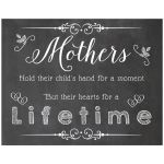 11x14 Chalkboard Wall Art With Touching Sentiment For Mother's Day