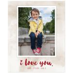 I Love You Personalized Photo Art Print