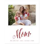 Watercolor Mom Personalized Photo Art Print