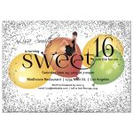 Silver Sparkly Glitter And Colorful Balloons Sweet 16 Party Invitation