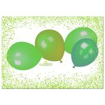 Green Sparkly Glitter With Colorful Balloons Sweet 16 Party Invitation