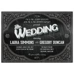 Wedding Invitation - Vintage Movie Title Screen