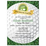 Best golf bachelor party invitation with golf ball