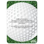 Great golfing tournament invitation for business or charity