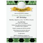 Best 40th birthday party invitation for a golfer