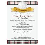 Best 50th birthday party invitation for a golfer