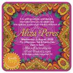 Tropical Fiesta of Colors Bat Mitzvah Invitation
