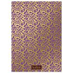 Purple & Gold Leopard Print Sweet 16 Party Invitations back